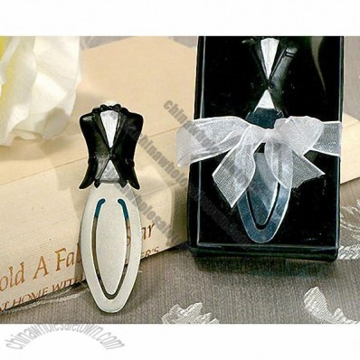 Black Groom's Tuxedo Bookmark Favor