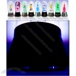 Black Ice Glass Bottle UV LED Plasma Dome Lamp