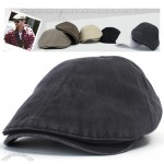 Black Mens Vintage Irish Gatsby Hat Cabbie Flat Cap