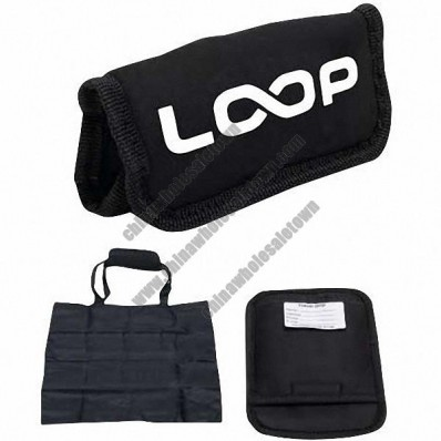 Black Neoprene Travel Grip W/Tote Bag Inside 7 1/4