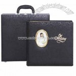 Black PU leather Photo Album with Mats