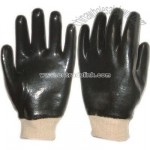 Black PVC Fully Dipped Gloves