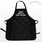 Black Personalised Apron