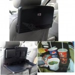 Black Plastic Foldable Car Seat Travel Dining/meal/snack Tray for food and beverage