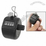 Black Plastic Hand Tally 4 Digit Push Button Clicker Counter