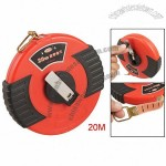 Black Red Enclosed Case 20M Long Retractable Fibre Tape Measure