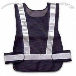 Black Reflective Safety Vest with PVC Reflective Tape