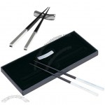 Black Silver Chinese Wood Chopsticks