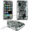 Black Skull Design Case for iPhone 3G