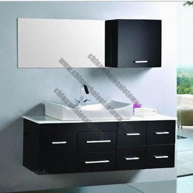 Black Wall-Hung Bathroom Cabinet