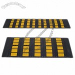 Black/Yellow Rubber Speed Humps