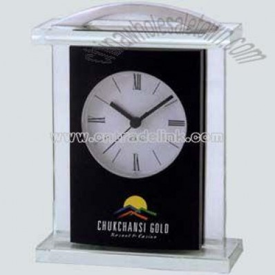 Black and silver glass clock
