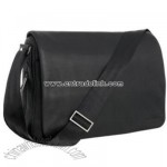 Black leather despatch bag