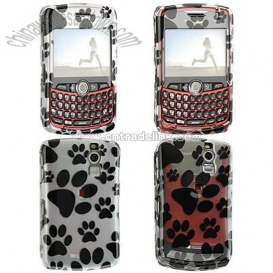 BlackBerry Curve 8300/ 8330 Paws Design Crystal Case