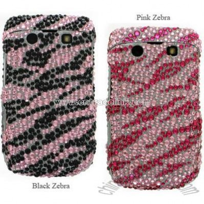 BlackBerry Onyx 9700 Zebra Designed Full Diamond Case