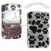 Blackberry Curve Dog Paws White Case