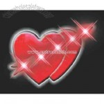 Blank cupid hearts flashing pin