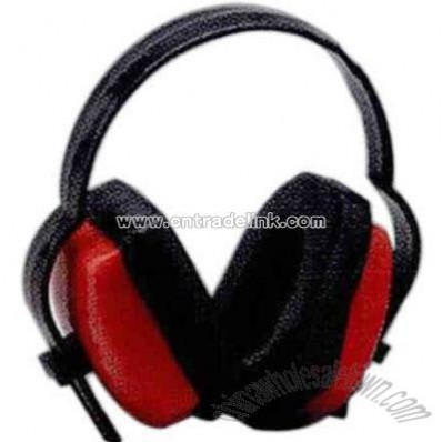 Blank economical ear muff with soft vinyl ear cushions