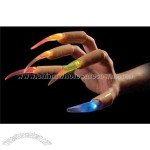 Blank flashing multicolor fingernails