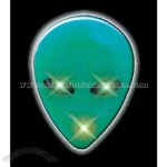 Blank green alien flashing pin