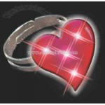 Blank groovy heart ring with flashing led lights