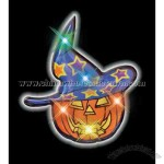 Blank pumpkin wizard flashing pin necklace.