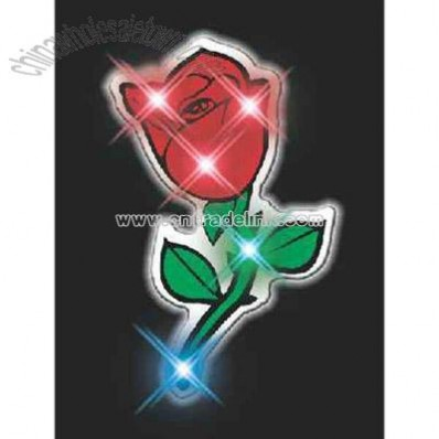 Blank red rose flashing pin