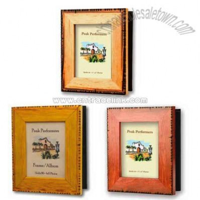 Blank wooden photo frame/album