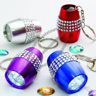 Bling LED Flashlight Keychain