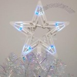 Blue & White LED Lighted Star Christmas Tree Topper