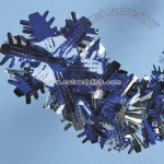Blue And Silver Snowflake Garland