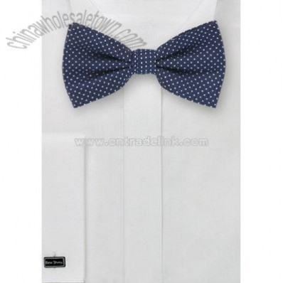 Blue Bow Tie & Matching Pocket Square