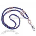 Blue Cherry Beaded Lanyard