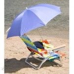 Blue Clamp-On Beach Umbrella
