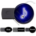 Blue Glow Music Note USB Flash Memory Drive