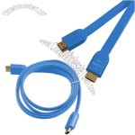 Blue HDMI 19-pin Flat Cable, Supports Ethernet 3D and HD TV