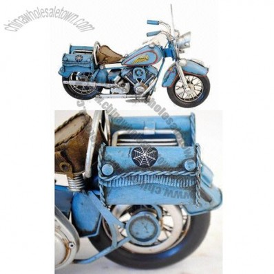 Blue Indian Motorcycle