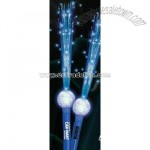 Blue LED Flashing Fiber Optic Wand