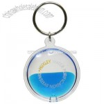 Blue Liquid Aqua Key Chain