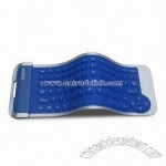 Blue Mini and Slim Flexible Silicone Keyboard