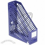 Blue Plastic Grid File Shelf