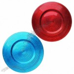 Blue Round Glass Plate Available for Food and Fruit