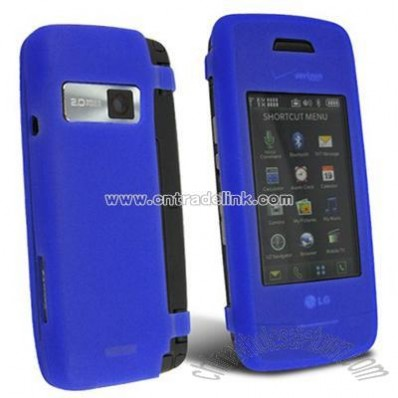 Blue Silicone Skin Case for LG VX10000 Voyager