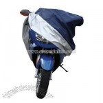 Blue/Silver Medium Motorcycle Cover