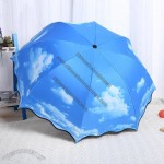 Blue Sky and Clouds Foldable Umbrella