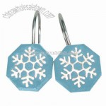 Blue Snowman Shower Curtain Hooks - Set of 12