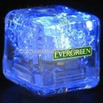 Blue liquid LED ice cube