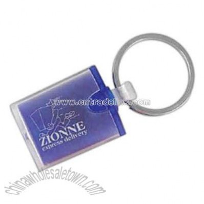 Blue squeeze light up keychain