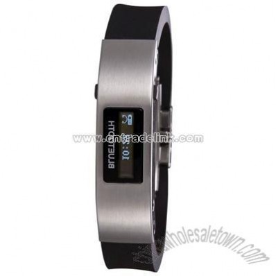 Bluetooth Bracelet with Caller ID Black