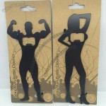 Bodybuilding Sexy Man and Lady Bottle Opener